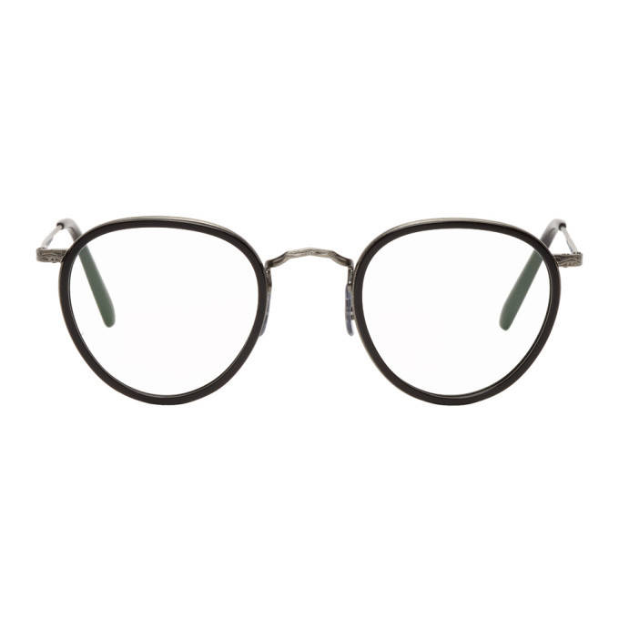 Oliver Peoples Black and Silver MP-2 Glasses