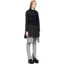 Sacai Black Poplin Shirt Dress