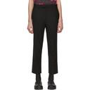 Raf Simons Black Classic Slim-Fit Turn-Up Trousers