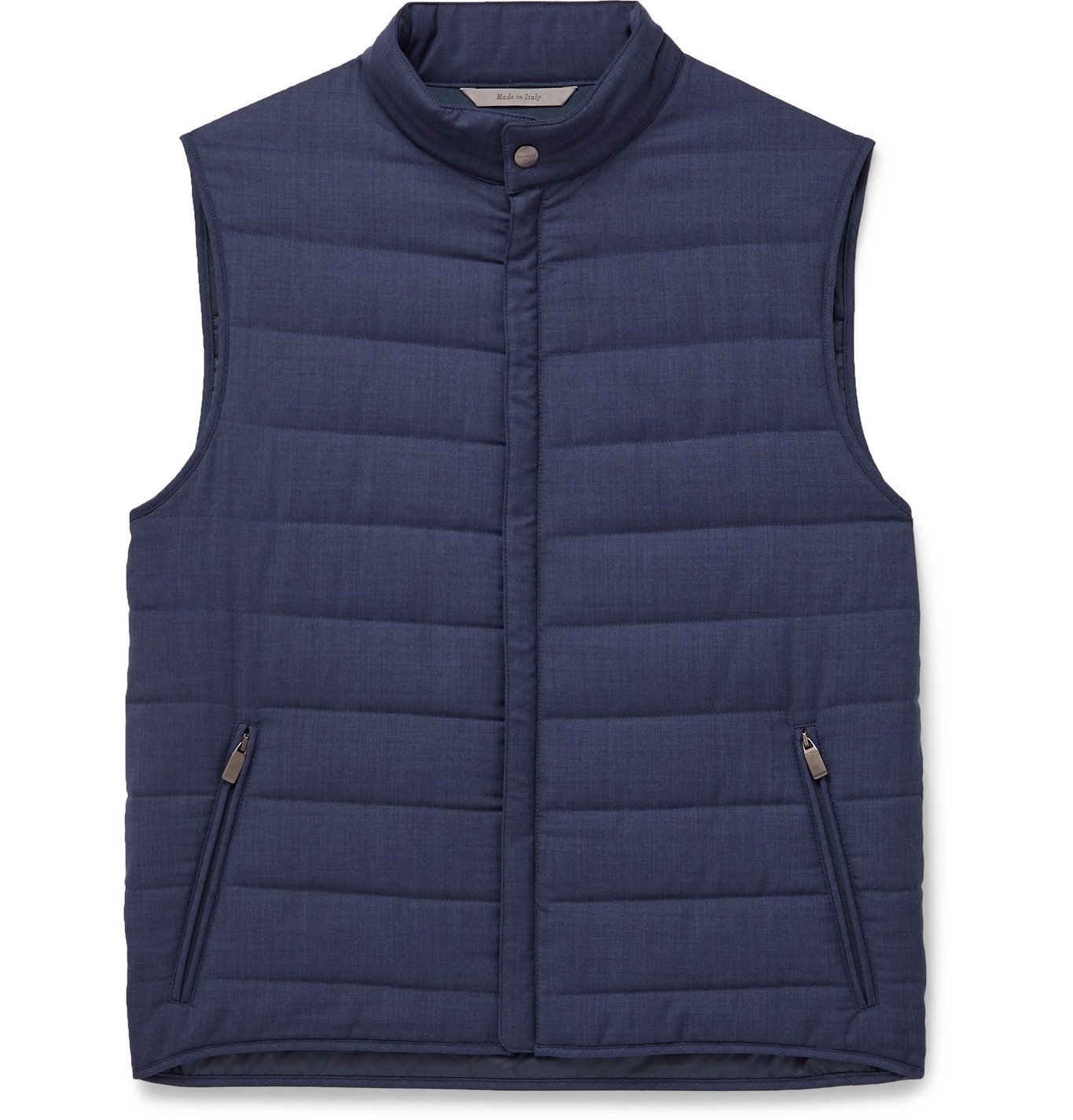 Photo: Canali - Packable Quilted Wool Gilet - Blue