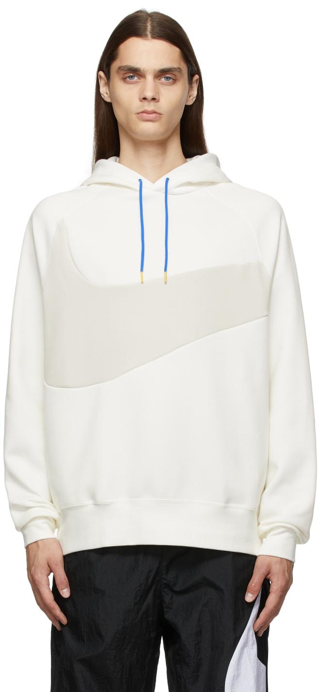 Photo: Nike Off-White & Grey Sportswear Swoosh Tech Hoodie