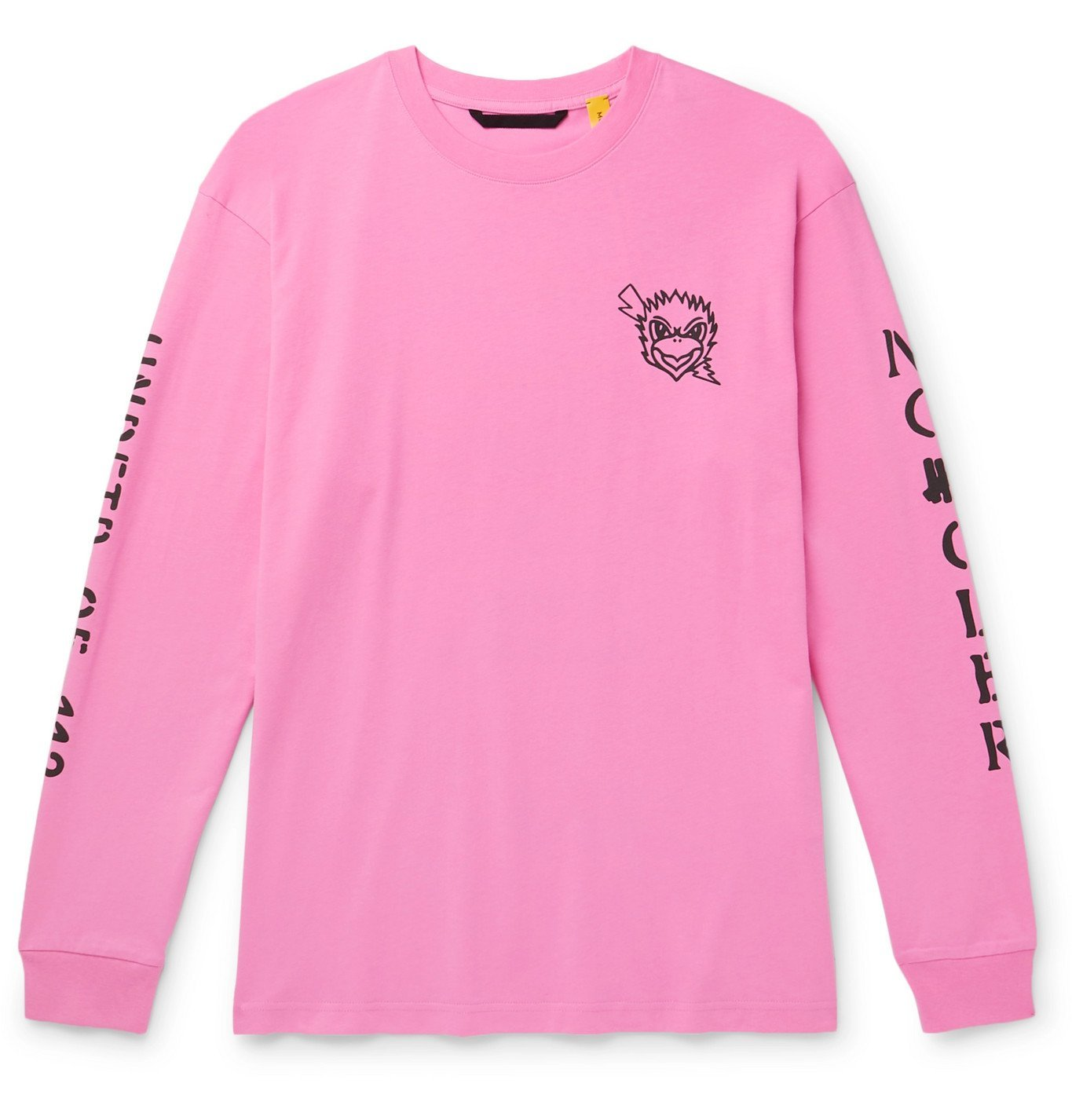 Photo: Moncler Genius - Undefeated 2 Moncler 1952 Printed Cotton-Jersey T-Shirt - Pink