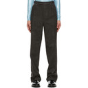 Raf Simons Black and Brown Ankle Zip Trousers