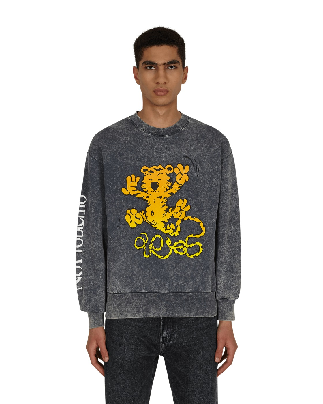 Photo: Aries Flatulent Tiger Crewneck Sweatshirt Navy