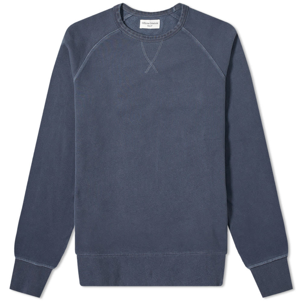 Photo: Officine Generale Camille Garment Dyed Crew Sweat