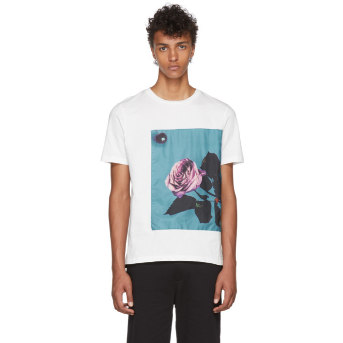 Photo: Paul Smith White Rose Applique T-Shirt