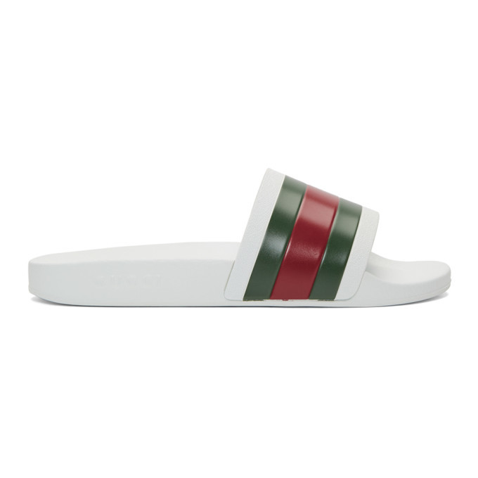 Photo: Gucci White Pursuit Slides
