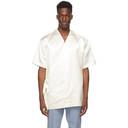 Dunhill Off-White Silk Duchess Wrap Short Sleeve Shirt