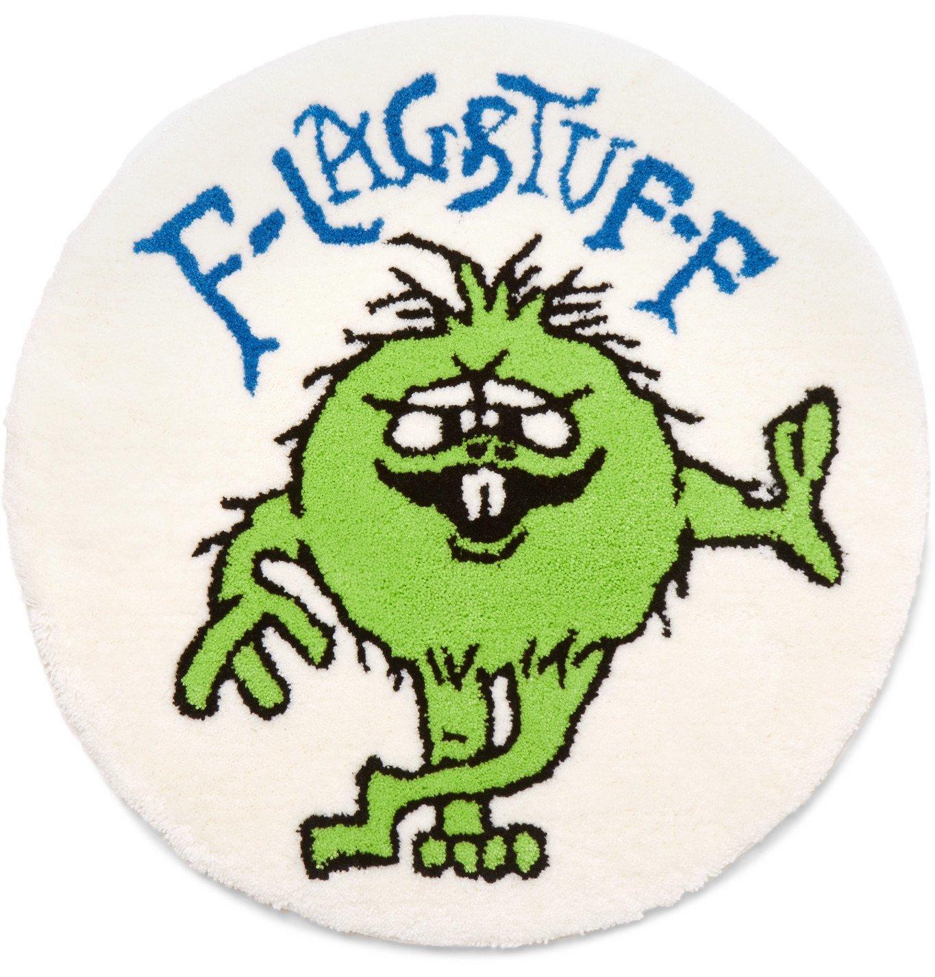 Flagstuff - Monster Printed Rug - White