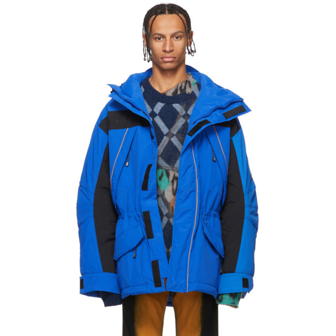 Photo: NAPA by Martine Rose Blue Silver Edition Epoch 1 Jacket