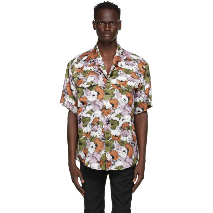 Photo: Situationist Multicolor Silk Floral Short Sleeve Shirt