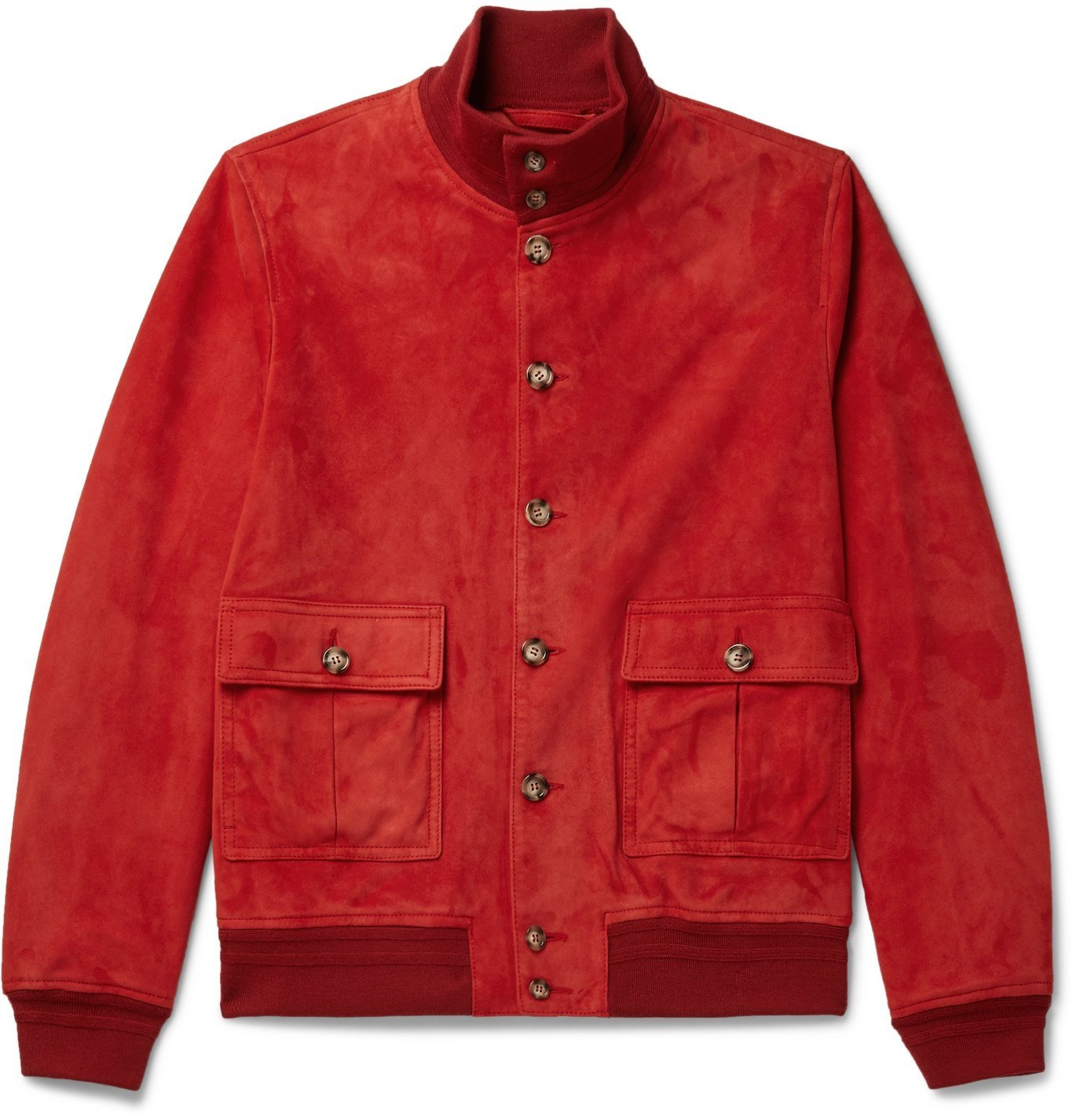 Photo: Valstar - Valstarino Suede Bomber Jacket - Red