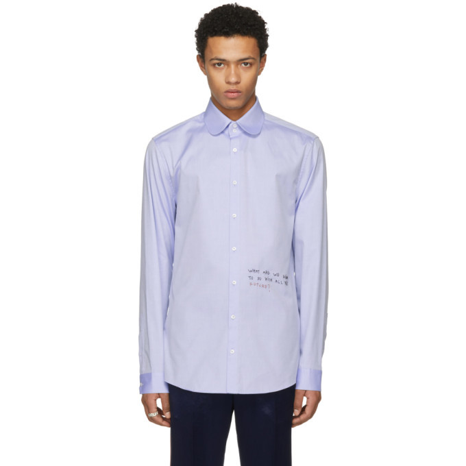 Photo: Gucci Blue Embroidered Shirt