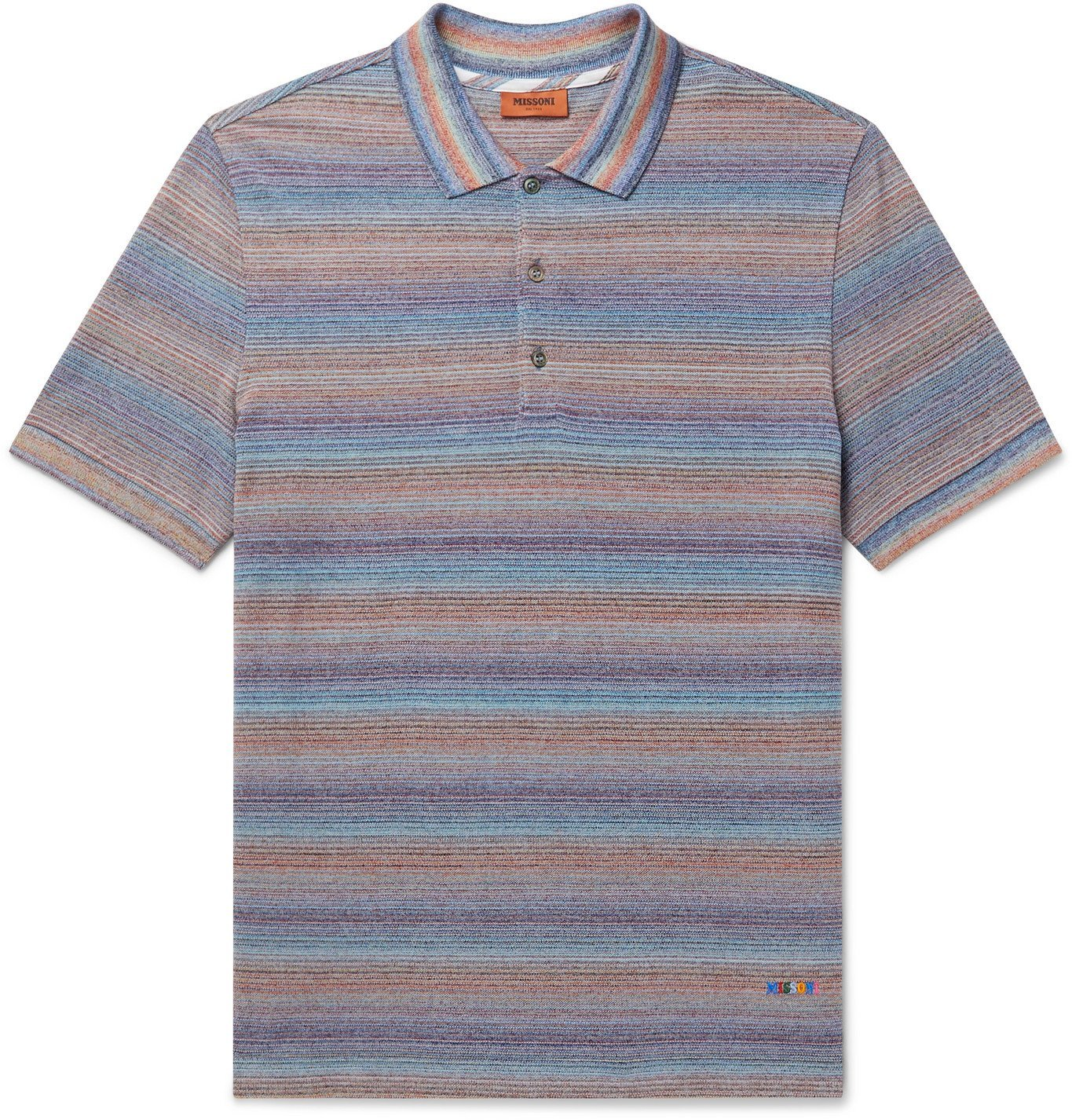 Photo: Missoni - Space-Dyed Crochet-Knit Cotton Polo Shirt - Multi