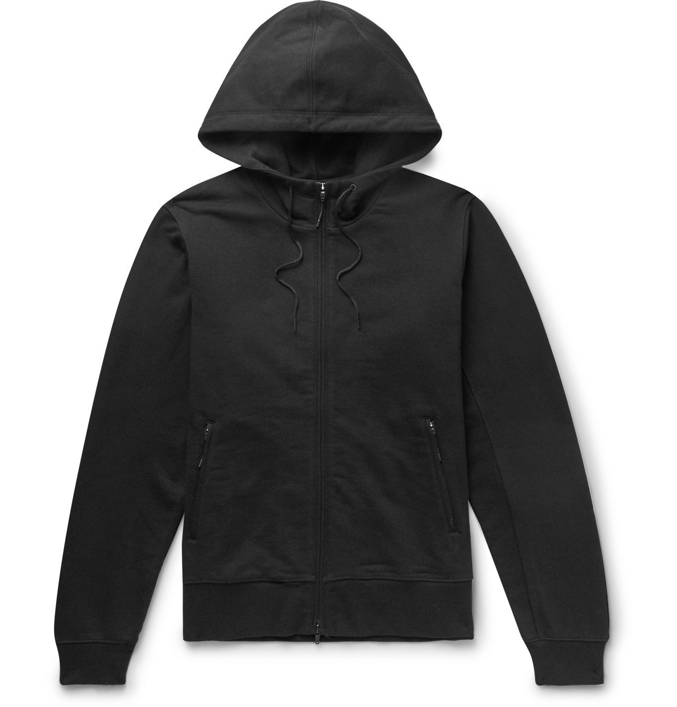 Photo: Y-3 - Logo-Print Loopback Cotton-Jersey Zip-Up Hoodie - Black
