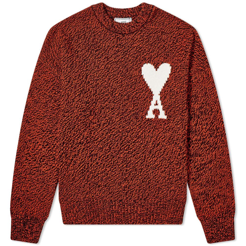 Photo: AMI Oversized Heart Logo Crew Knit