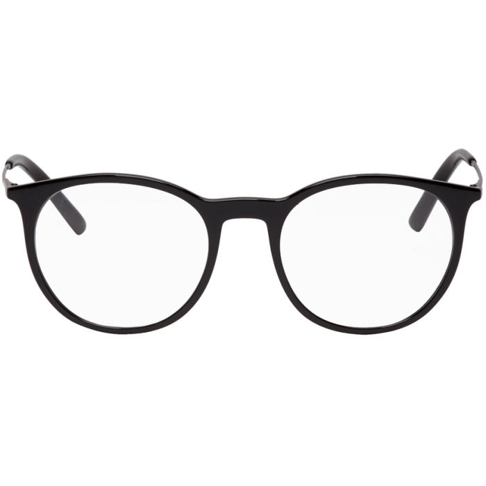 Photo: Dolce and Gabbana Black Round Glasses
