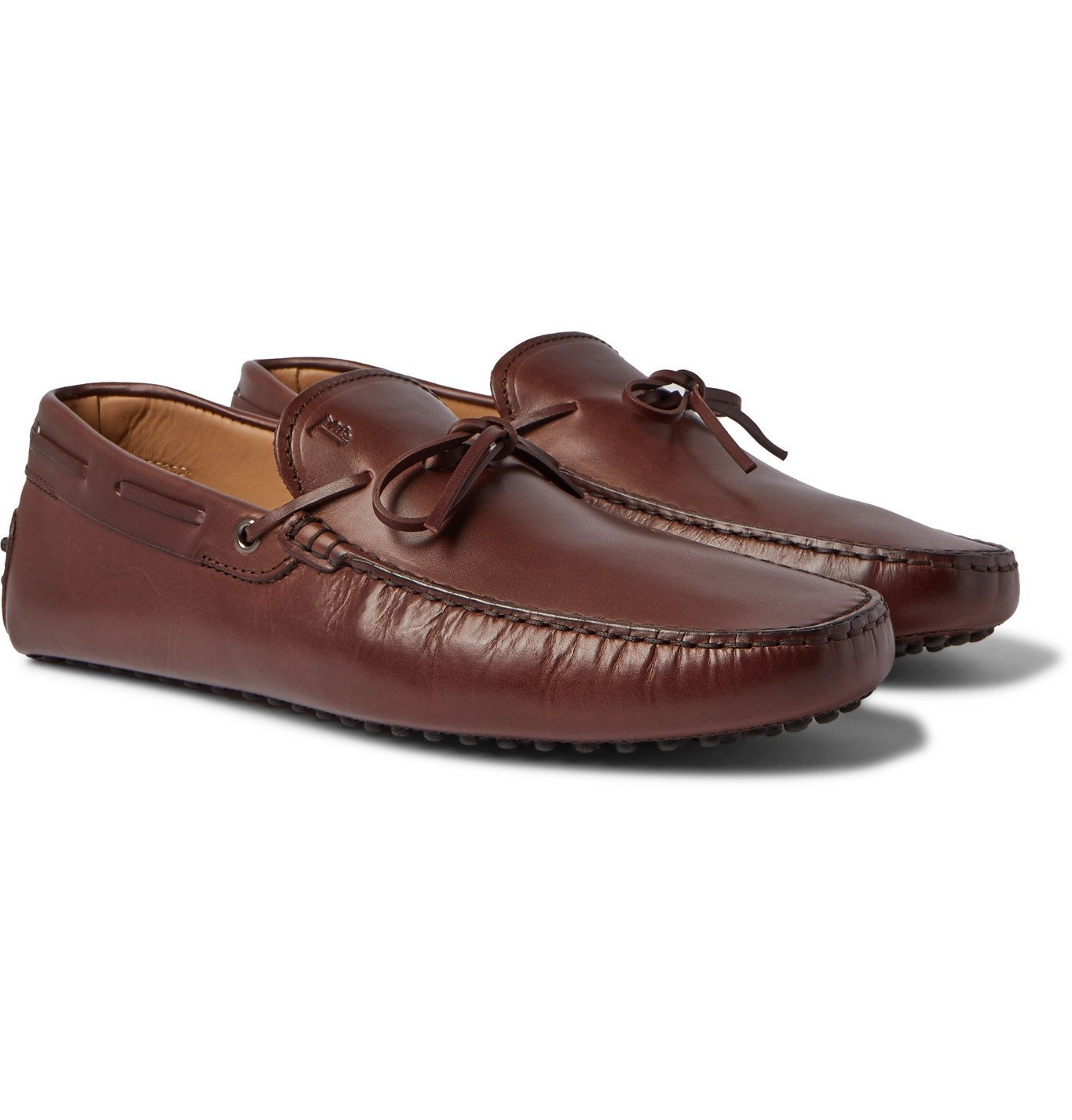 Photo: TOD'S - Gommino Leather Driving Shoes - Brown