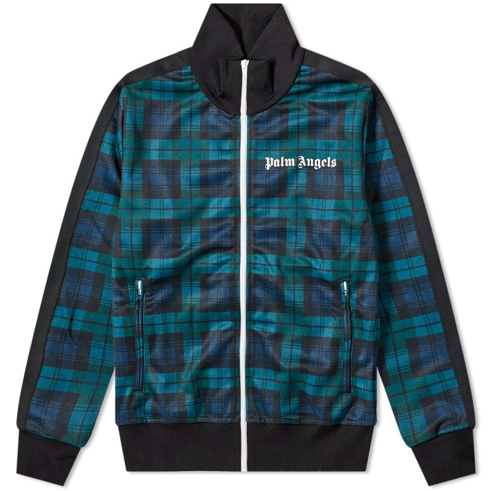 Photo: Palm Angels Black Watch Tartan Track Jacket
