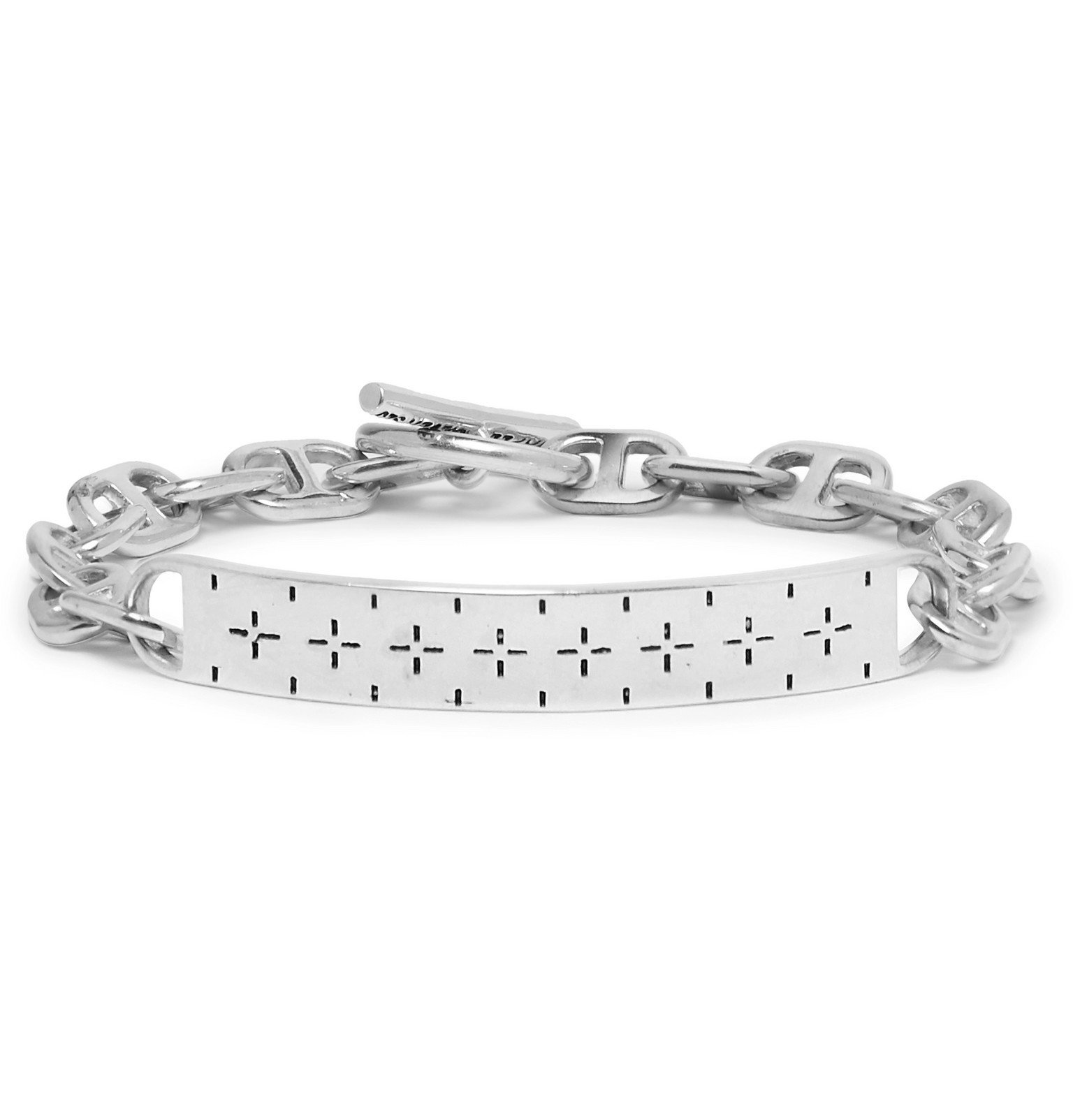 Photo: MAPLE - Bandana Sterling Silver ID Bracelet - Silver