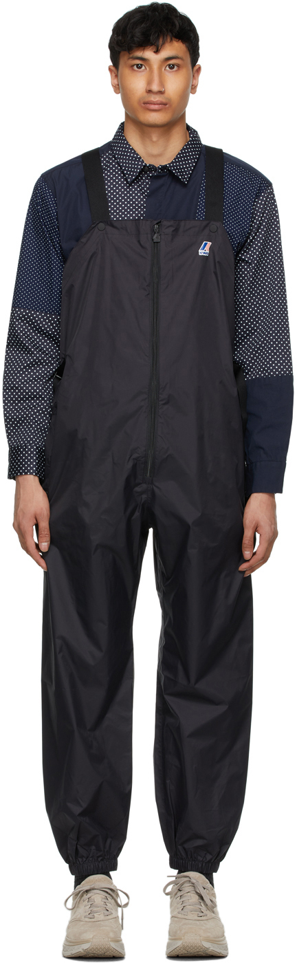 Photo: Engineered Garments Black K-Way Edition Packable Perry 3.0 Overalls