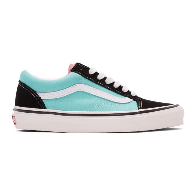 Photo: Vans Black and Blue Anaheim Old Skool 36 DX Sneakers
