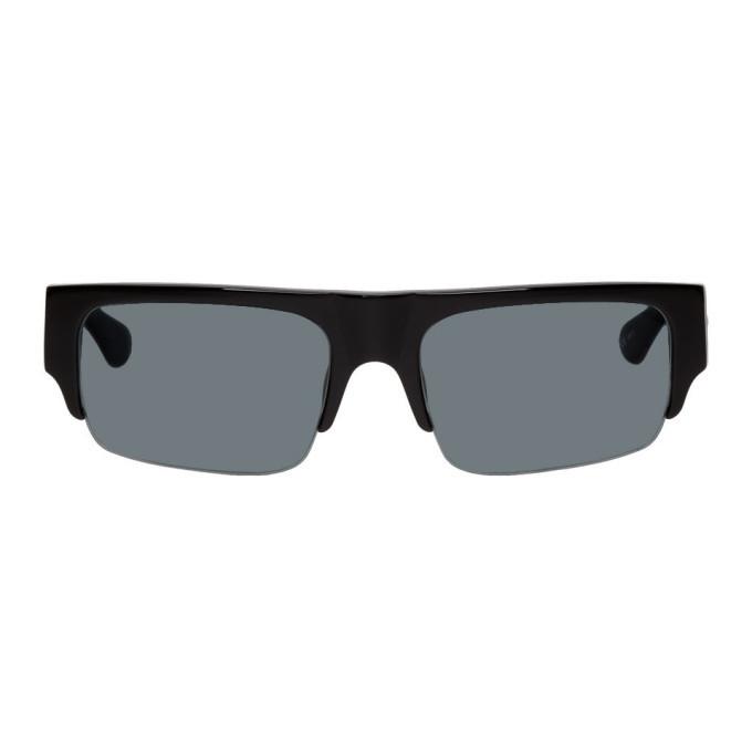 Photo: Dries Van Noten Purple Linda Farrow Edition 190 C1 Rectangular Sunglasses