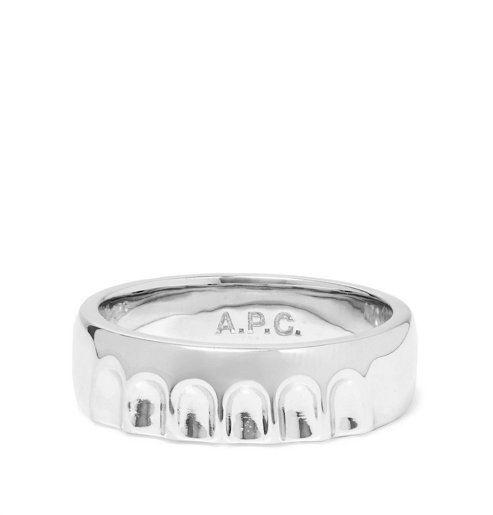 Photo: A.P.C. - Bottle Cap Silver-Tone Ring - Silver