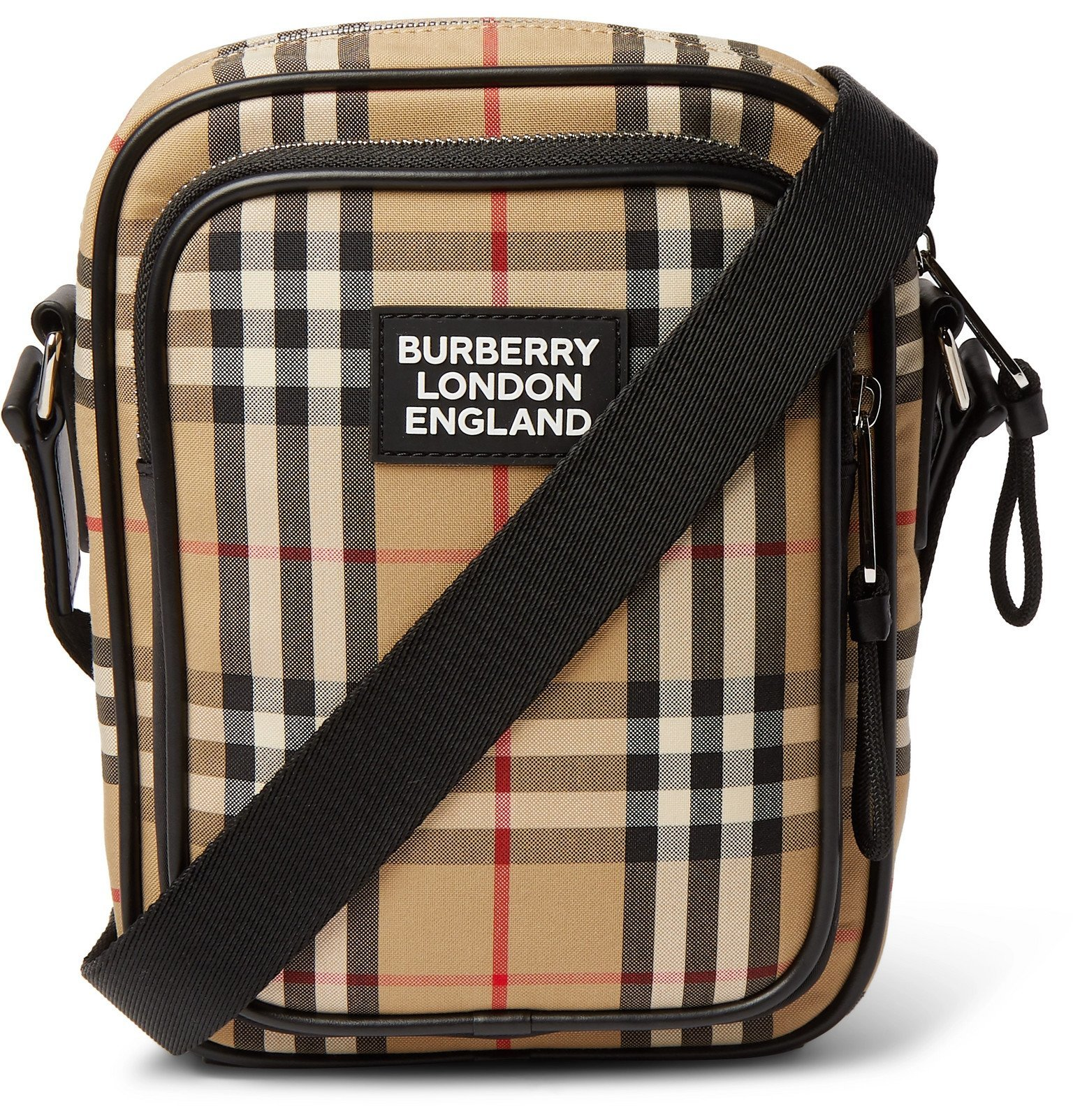 Photo: Burberry - Logo-Appliquéd Checked Canvas Messenger Bag - Neutrals
