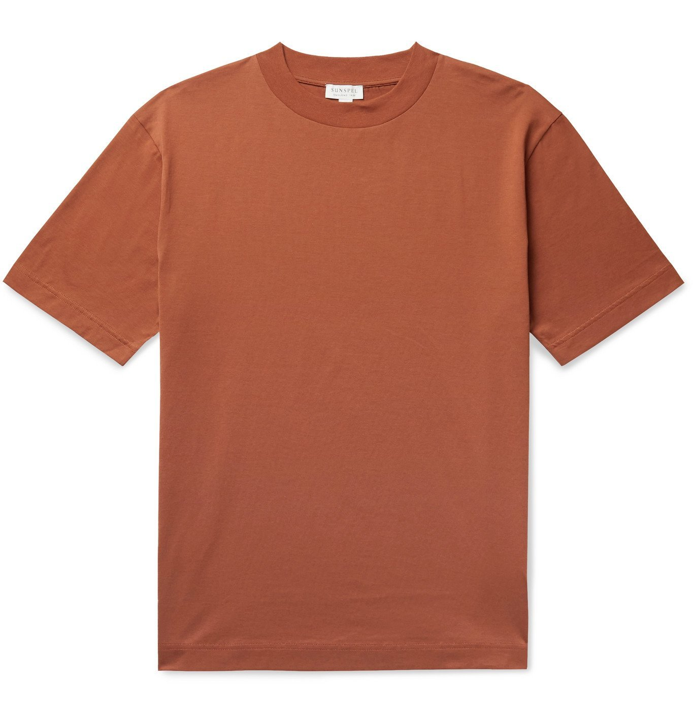 SUNSPEL - Pima Cotton-Jersey T-Shirt - Orange