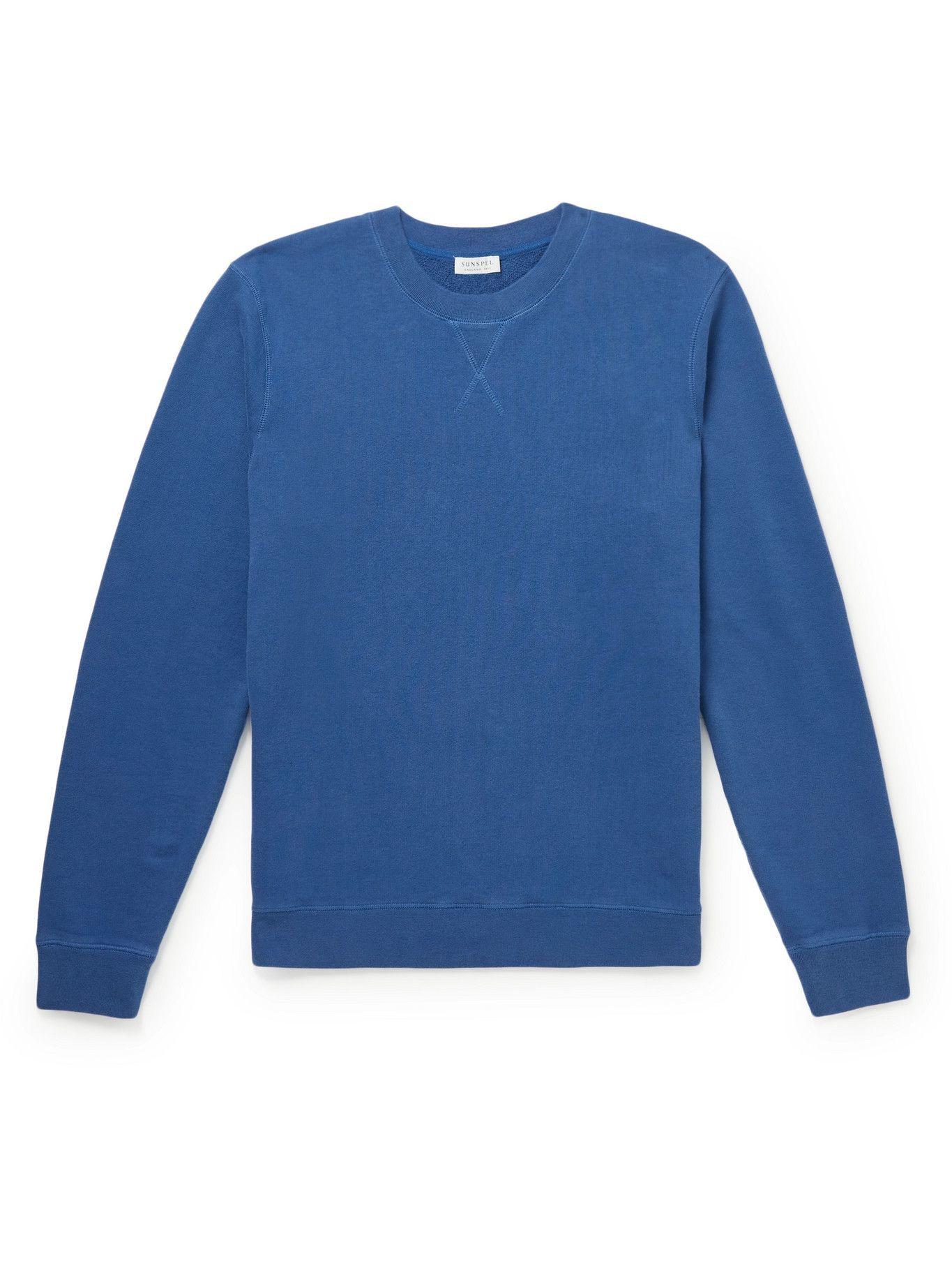 Photo: SUNSPEL - Cotton-Jersey Sweatshirt - Blue