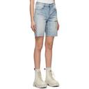 Ksubi Blue Brooklyn Trashed Shorts