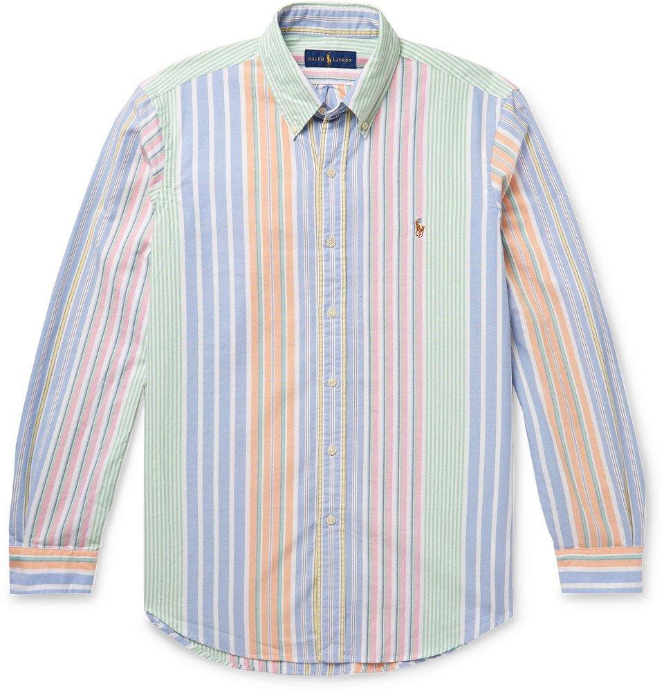 32df6a40b0cf0 Polo Ralph Lauren - Button-Down Collar Striped Cotton Oxford Shirt - Multi