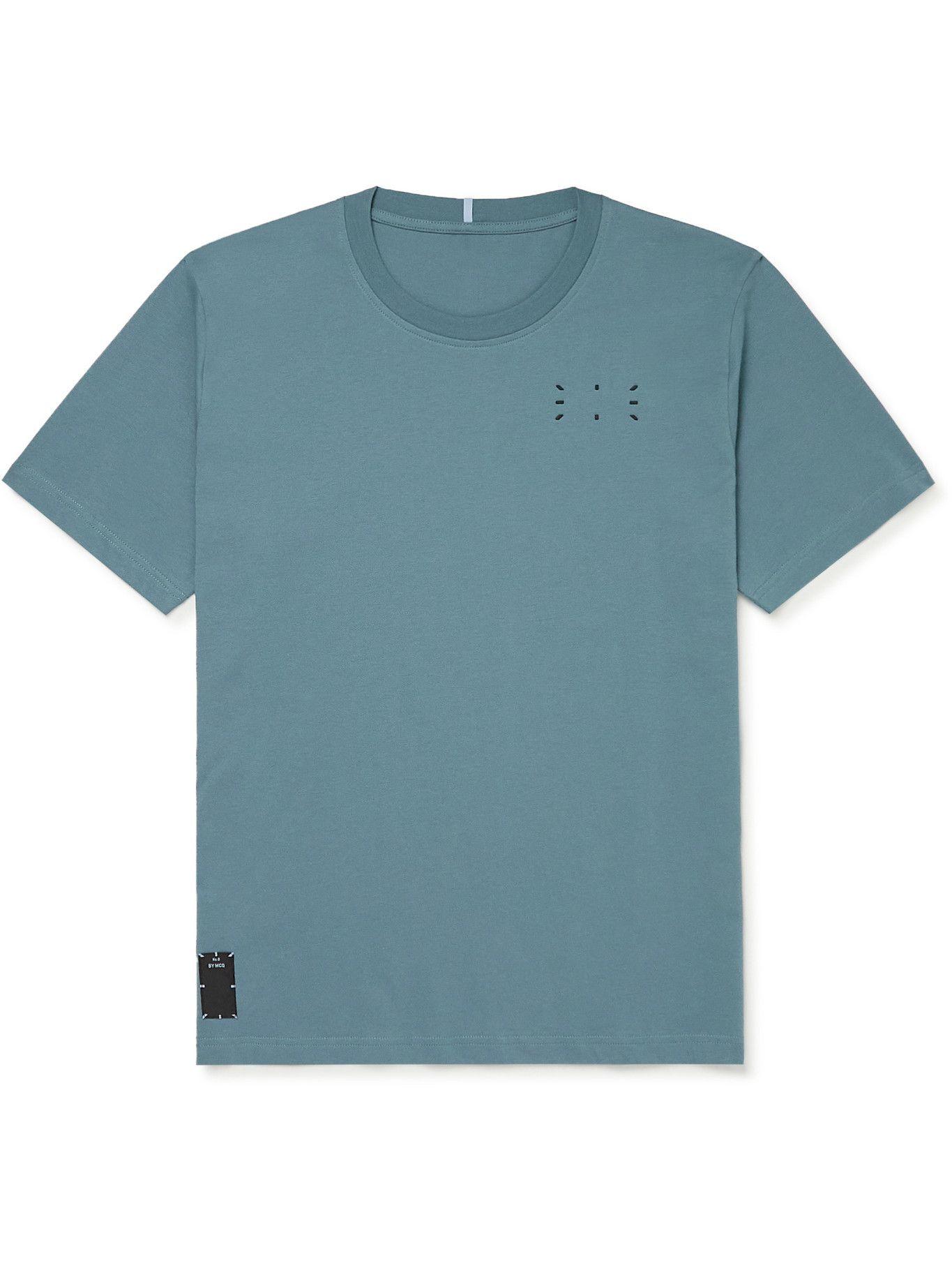 Photo: MCQ - Logo-Appliquéd Cotton-Jersey T-Shirt - Blue