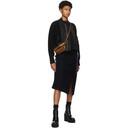 Sacai Black Nylon and Wool Bomber Sweater