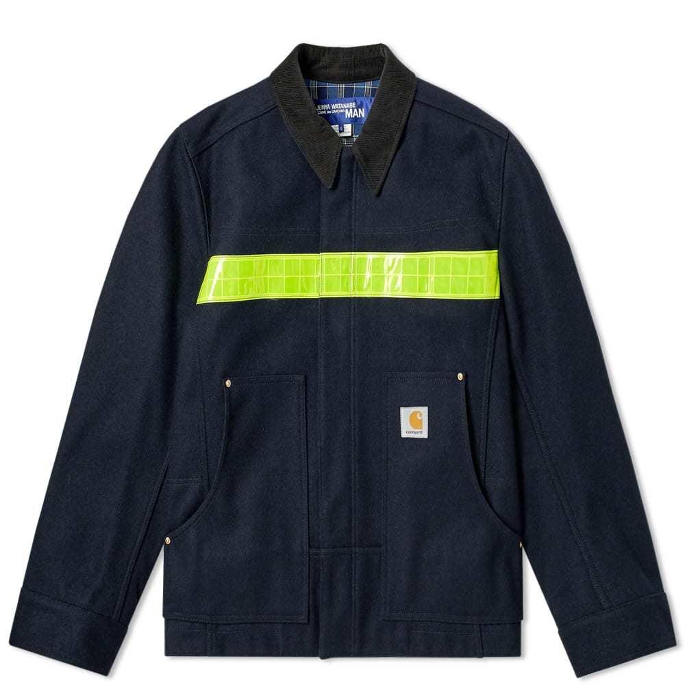 Photo: Junya Watanabe MAN x Carhartt Reflective Taped Work Jacket Navy