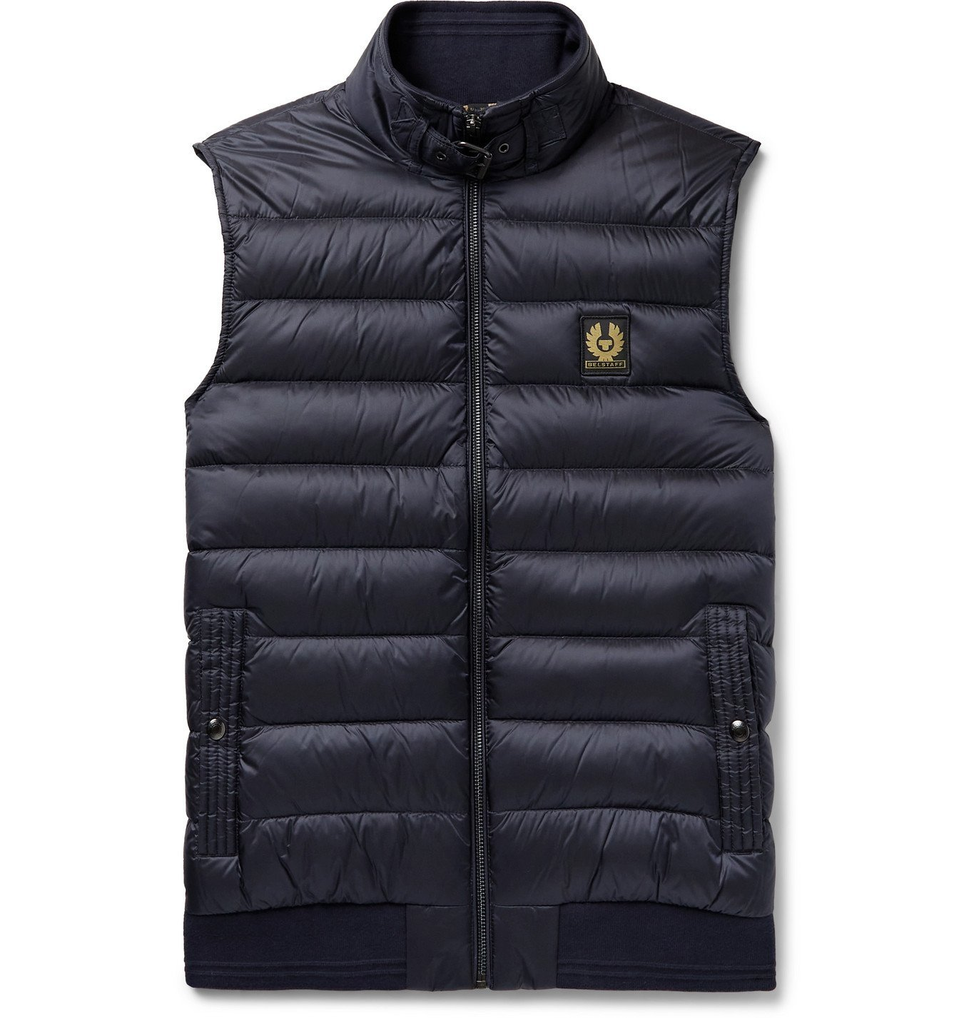 Photo: BELSTAFF - Circuit Logo-Appliquéd Quilted Shell Down Gilet - Blue