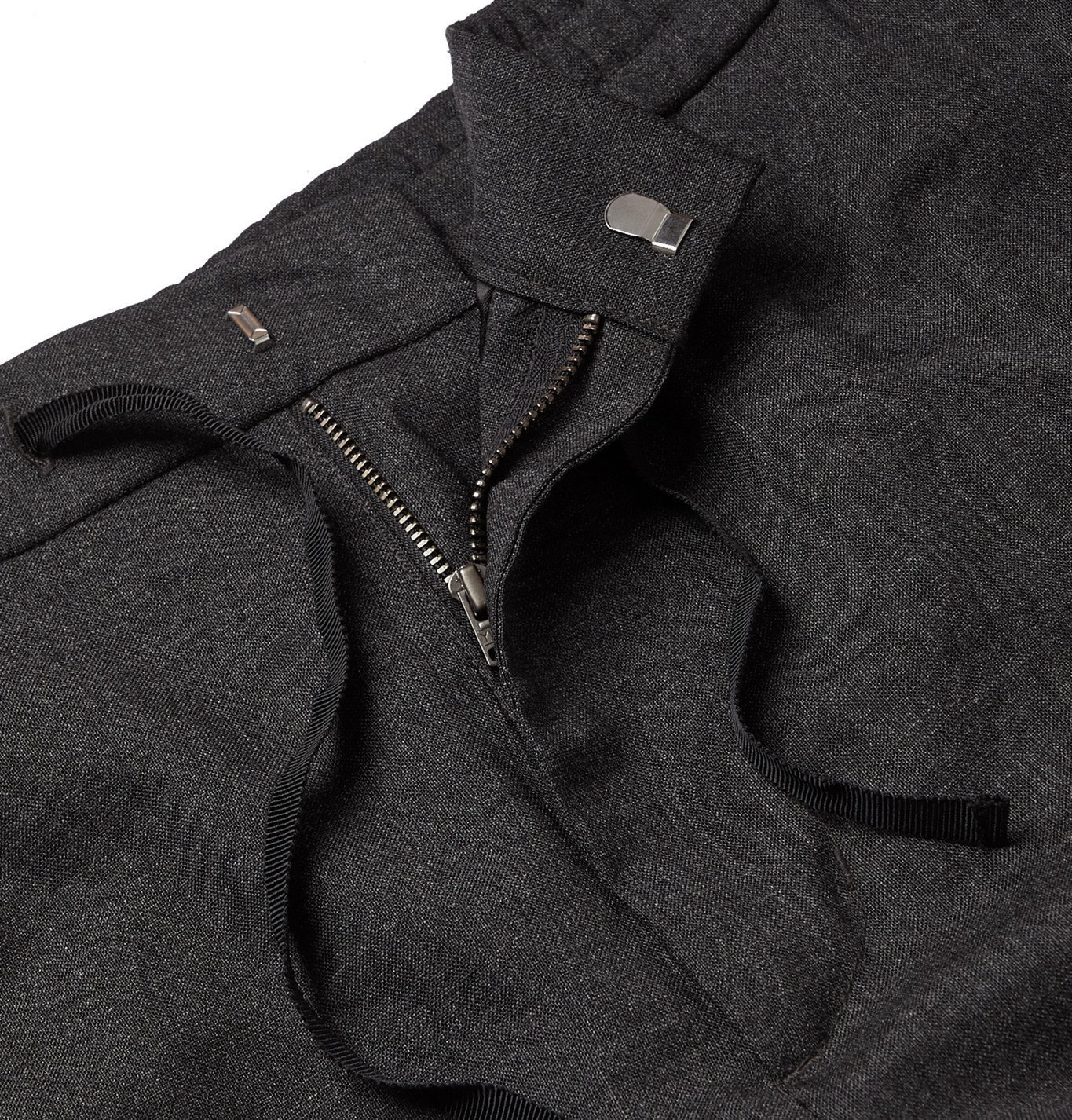 Officine Generale - Geron Tapered Wool Cargo Trousers - Gray