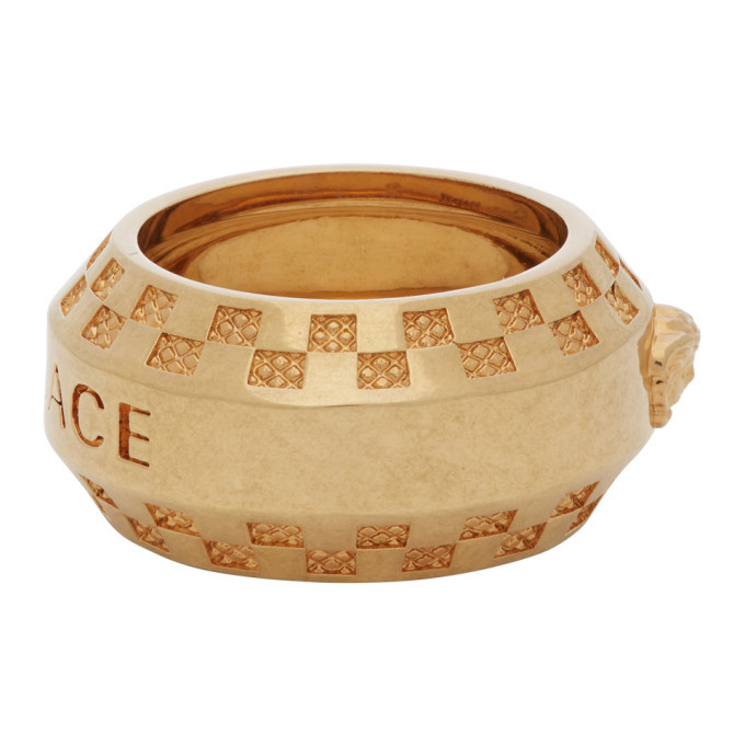 Versace Gold Medusa Band Ring