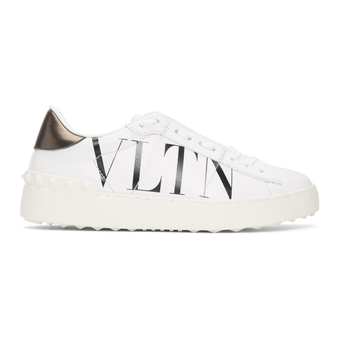 Photo: Valentino White and Black Valentino Garavani VLTN Open Sneakers