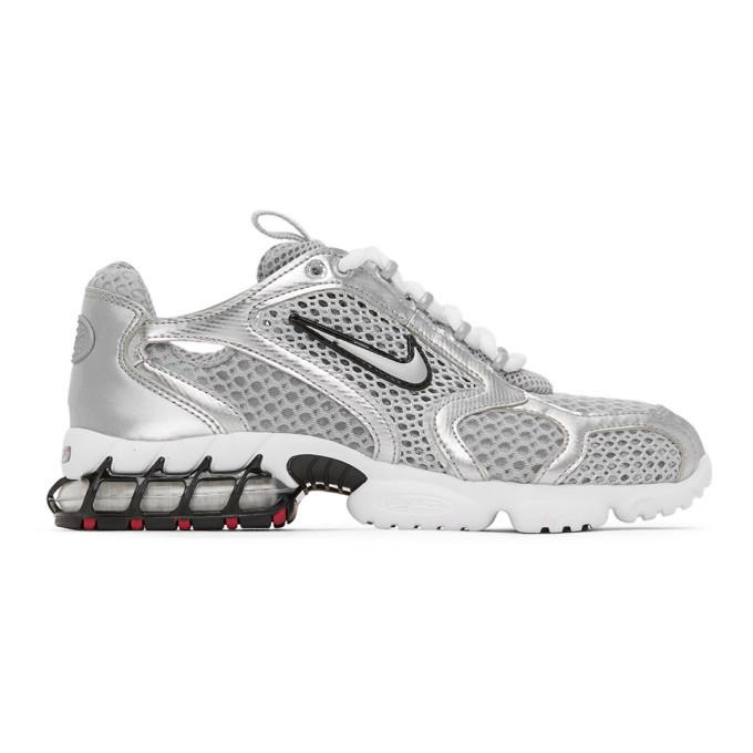 Photo: Nike Silver Nike Air Zoom Spiridon Cage 2 Sneakers
