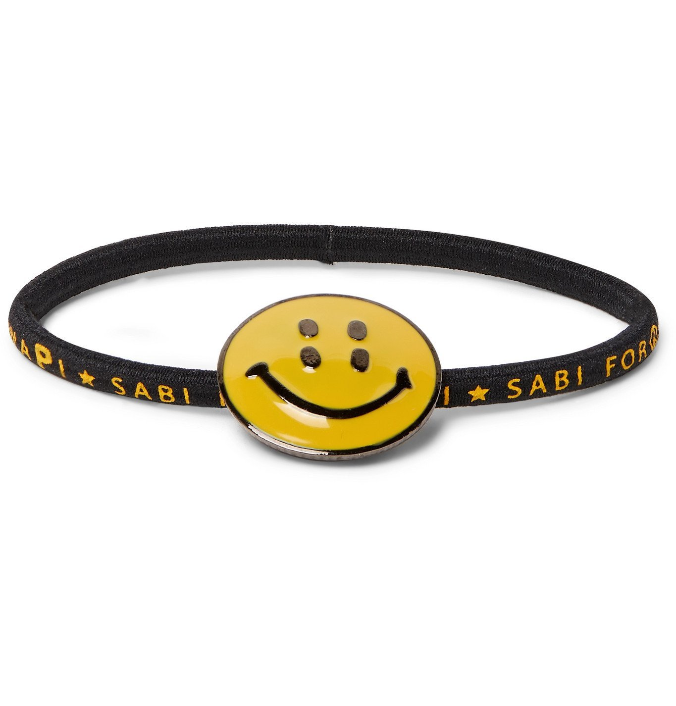 KAPITAL - Enamel, Gunmetal-Tone and Elastic Bracelet - Black