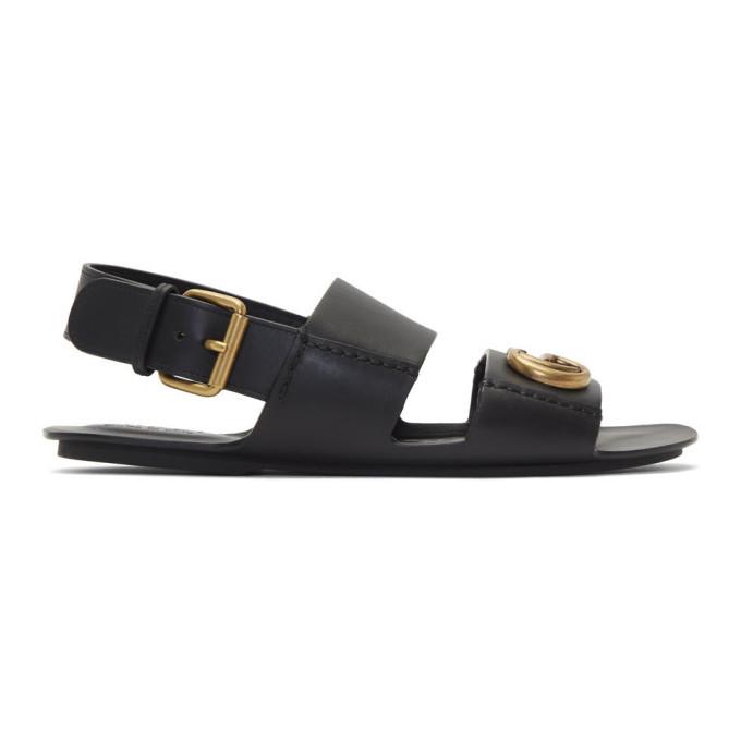 Photo: Gucci Black GG Sandals