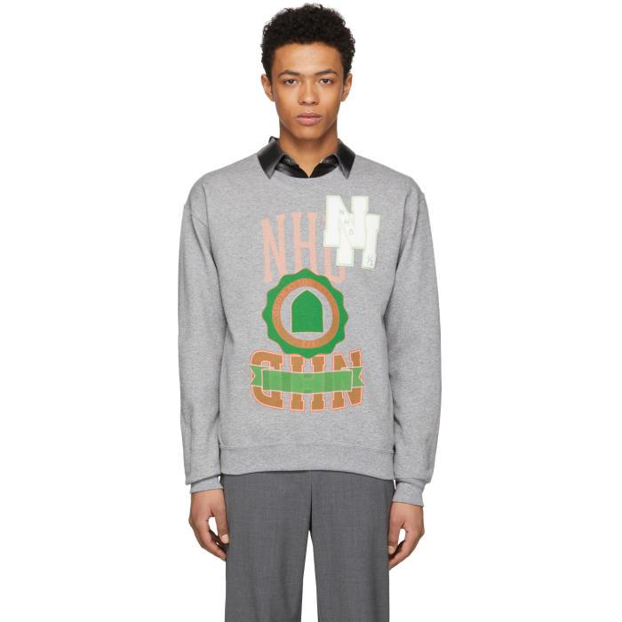 Photo: N.Hoolywood Grey Logo Sweatshirt