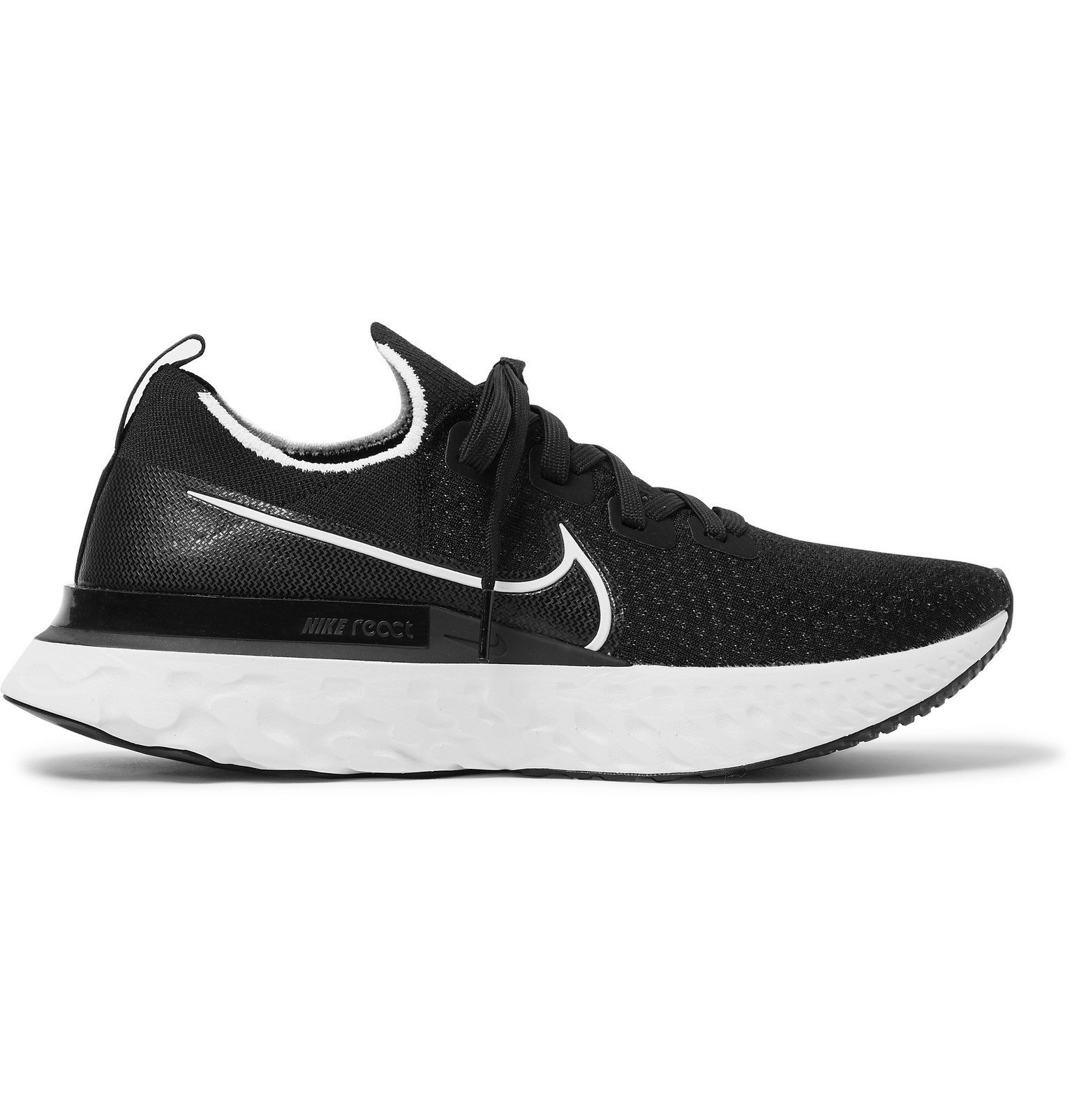 Nike Running - React Infinity Run Flyknit Running Sneakers - Black