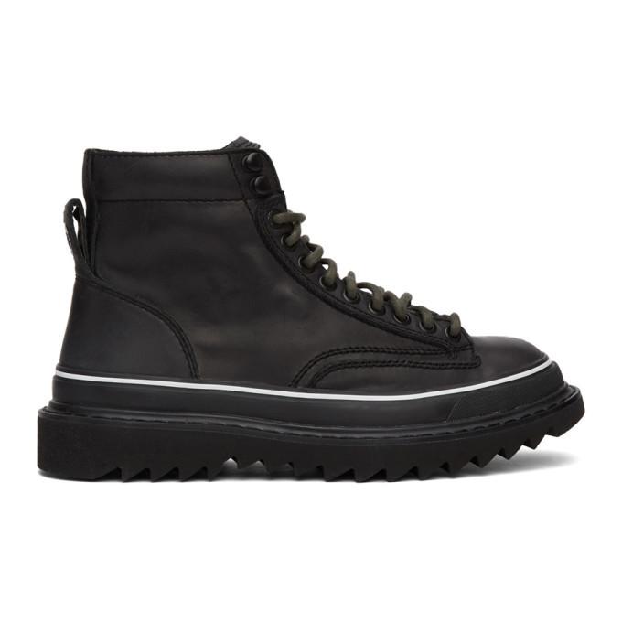 Photo: Diesel Black H-Shiroki DMBB Sneakers