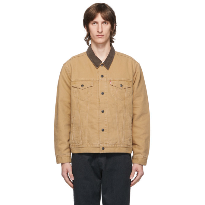 Photo: Levis Tan Canvas Lined Trucker Jacket