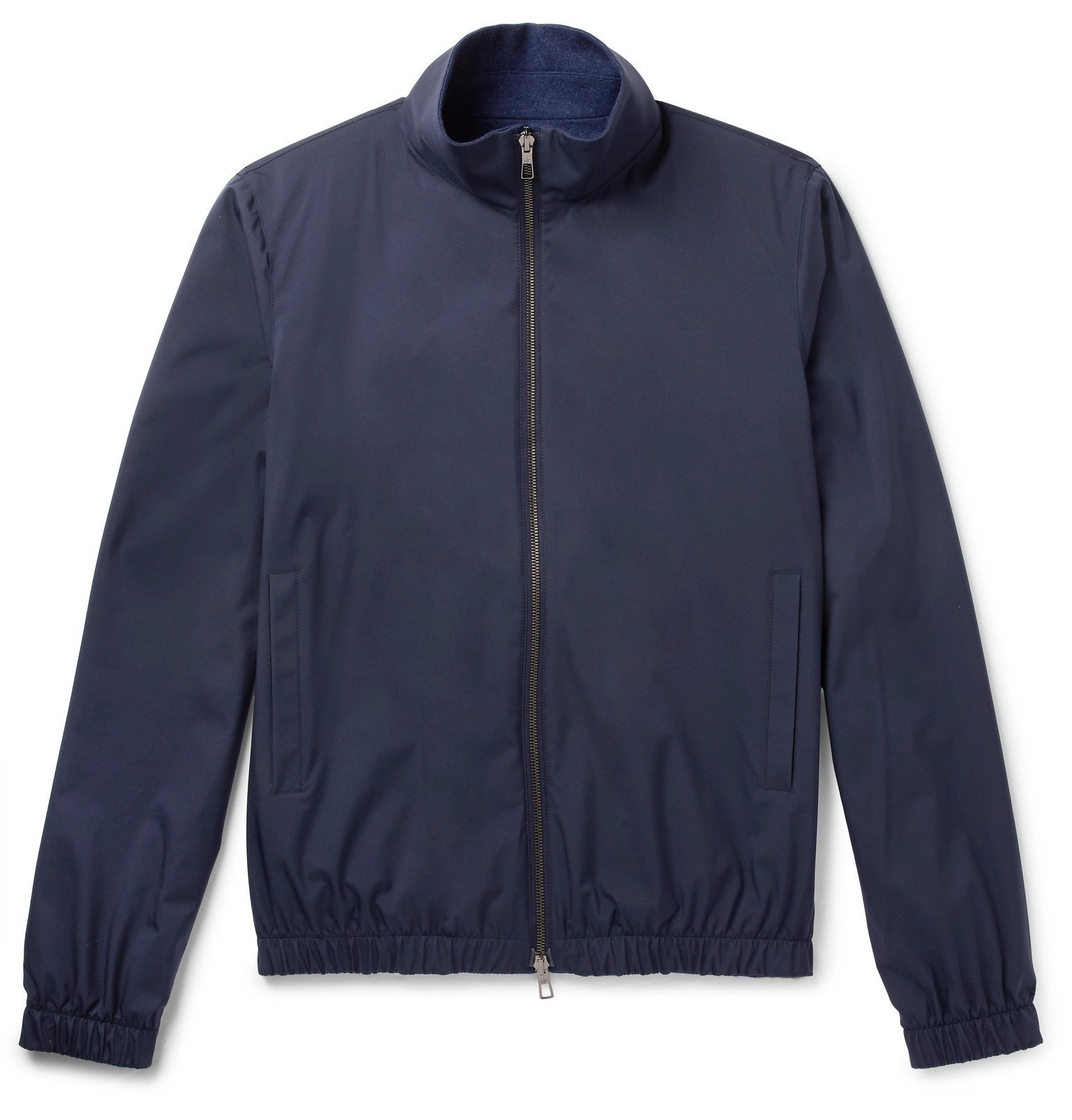 Photo: Loro Piana - Reversible Storm System Shell and Cashmere Bomber Jacket - Blue
