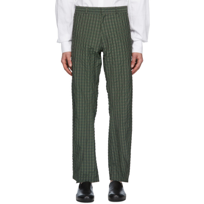 Photo: Bianca Saunders Green Jeff Split Cuff Trousers