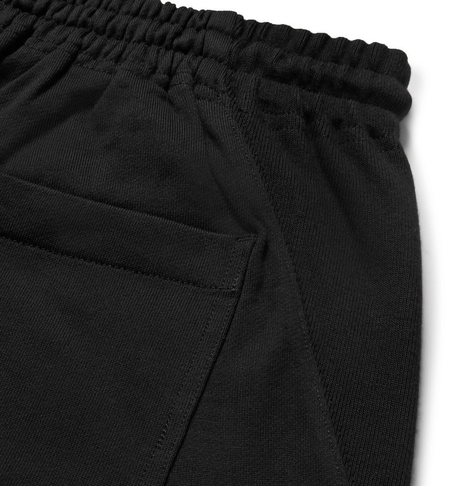 Y-3 - Tapered Loopback Cotton-Jersey Sweatpants - Black